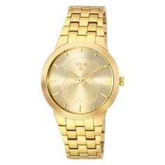 Reloj Tous de mujer Drive dorado oro amarillo 300351123.