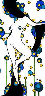 "Saatchi Art Artist Nani Corina; Painting, ""Big Nude IV"" #art"