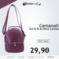 Cantamall Çok Fonksiyonlu Çanta : El , Omuz ve Sırt çantası olarak kullanabilme özelliği. Sadece 29,90 TL.