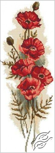 Oriental Poppies II - Cross Stitch Kits by RTO - M450