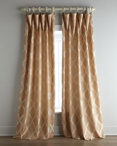 good example of how to  hang simple rod pocket curtains.