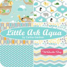 Little Ark Aqua One Yard Pack Carina Gardner for Riley Blake Designs - Fat Quarter Shop
