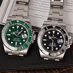 Black Watches, Rolex Watches, Watches For Men, Vintage Rolex, Vintage Watches, Best Looking Watches, Hand Watch, Rolex Submariner, Omega Watch