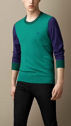 Colour Block Cashmere Sweater // Burberry