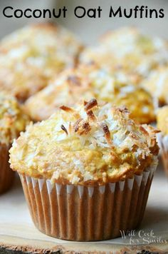 Coconut Oat Muffins | willcookforsmiles.com #bread #breakfast #desserts #coconut