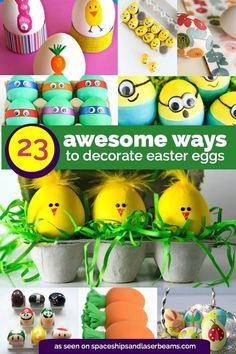 23 Unique Ways to Decorate Easter Eggs from Spaceships and Laser Beams