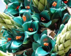 Puya alpestris, Sapphire Tower, giant bromeliad, 15 rare seeds, vibrant turquoise blooms, electric blue, drought tolerant, desert garden