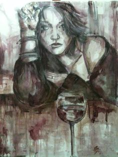 While the average painter may use oils or acrylics to produce their artworks, artist Elisabetta Rogai relies on the evolving attributes of wine. Color Change, Red And White, White Wines, Portrait, Artwork, Paintings, Beautiful, Art, Wine