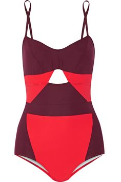 Flagpole Swim | Joellen cutout two-tone swimsuit | NET-A-PORTER.COM