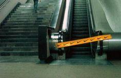 Just Do It es el famoso eslogan de Nike. Para comunicar un mensaje, puso una cinta en una escalera mecánica y así invitar a las personas a hacer más ejercicio.
