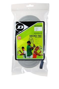 Dunlop Sports Gecko Tac Overgrip 30 Grip Roll (White) by Dunlop. $43.00. The Dunlop Gecko Tac Overgrip is a ultra tacky performance overgrip with moisture reduction and a thin profile that provides enhanced levels of feel.