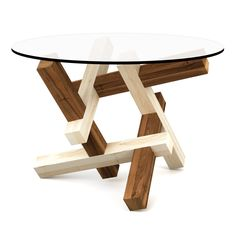 2x3 puzzle round coffee table - flat pack furniture brain teaser - free shipping to EU by PRAKTRIK on Etsy https://www.etsy.com/listing/188181615/2x3-puzzle-round-coffee-table-flat-pack
