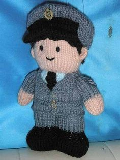 #RAF airman #doll knitted for my dad. #knitting Based on a Jean Greenhowe pattern. Photo (c) Kristen Bailey.