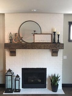 """Fireplace Mantel Custom Chunky Long Rustic 8 by 8 """" Hand Hewn Solid Pine Ant. - Fireplace Mantel Custom Chunky Long Rustic 8 by 8 """" Hand Hewn Solid Pine Antique Look – - Brick Fireplace Makeover, Fireplace Design, Custom Fireplace, Fireplace Ideas, Mantel Ideas, Brick Fireplace Decor, Painted Brick Fireplaces, Rustic Mantle Decor, White Wash Brick Fireplace"""