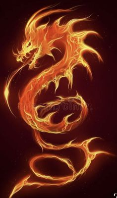 Fire ophidian dragon on the dark background , Phoenix Dragon, Phoenix Art, Dragon Images, Dragon Pictures, Fire Dragon, Dragon Rise, Fire And Ice Dragons, Dragon Wallpaper Iphone, Small Dragon Tattoos