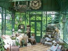 Gorgeous French-style conservatory fit for a queen!