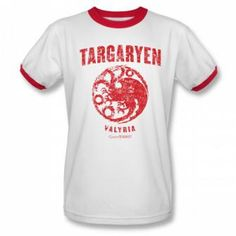 Game of Thrones Targaryen Valyria Ringer T-Shirt: HBO Shop Europe