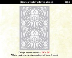 Wall Stencil Lotus Floral Trellis Pattern Wall Room by OMGstencils