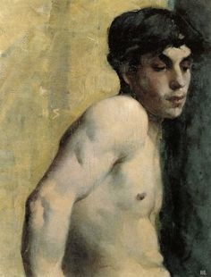 """Helene Schjerfbeck """"Study of a youth,"""" 1882 Finland Helene Schjerfbeck, Painting People, Figure Painting, Renoir, Female Painters, Beauty In Art, Nordic Art, Canadian Art, Gay Art"""