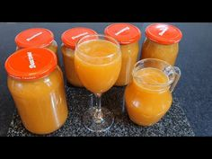Nectar de piersici - YouTube Pudding, Drinks, Cooking, Desserts, Youtube, Food, Canning, Drinking, Kitchen
