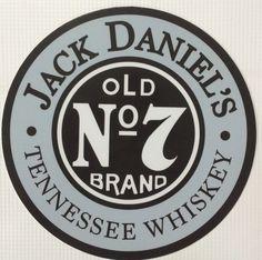 Jack Daniels Old 7 Tennessee Whiskey 7 Diameter Tin Sign Jack Daniels Logo, Jack Daniels Whiskey, Whisky, Bebidas Jack Daniels, Harley Davison, Truck Lettering, Potion Labels, Tin Signs, Beer Signs