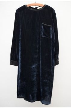 Notte Ribbed Velvet Dress