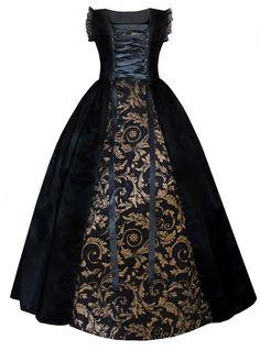 Victorian Valentine Victorian Steampunk Gothic Historical Women's Gown (M)