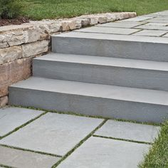 Steps, Treads, Caps, Coping & Slabs   Bluestone Blue Select Sawn Thermal Steps