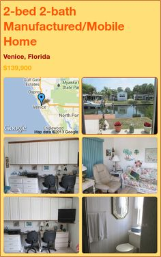 2-bed 2-bath Manufactured/Mobile Home in Venice, Florida ►$139,900 #PropertyForSale #RealEstate #Florida http://florida-magic.com/properties/7220-manufactured-mobile-home-for-sale-in-venice-florida-with-2-bedroom-2-bathroom