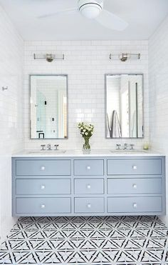 Looking for Bathroom and Double Vanity Bathroom ideas? Browse Bathroom and Double Vanity Bathroom images for decor, layout, furniture, and storage inspiration from HGTV. Bad Inspiration, Bathroom Inspiration, Bathroom Ideas, Bathroom Organization, Bathroom Pictures, Bathroom Layout, Bath Ideas, Bathroom Designs, Bathroom Storage