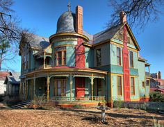 RAGLAND HOUSE, Quapaw Quarter, Little Rock, AR. Twenty-one year old architect, Charles Thompson, designed this house in the Queen Anne style for Mr and Mrs William Ragland ca 1889.