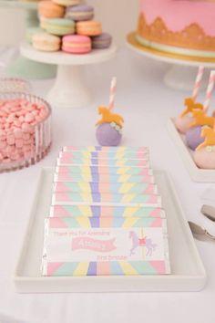 Pastel Carousel Birthday Party via Kara's Party Ideas | KarasPartyIdeas.com (5)
