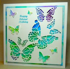 Brusho Butterflies by susanbri - Cards and Paper Crafts at Splitcoaststampers