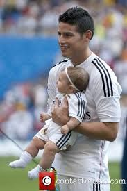 The most beautiful player in the world with his daughter Salome!!Love you James <3