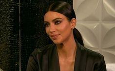 Kim Kardashian no programa 'Lorraine', da ITV (Foto: Divulgação)