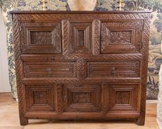 Tudor food cupboard, circa 1550. Marhamchurch antiques