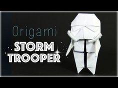 How to make an origami Stormtrooper (Star Wars) Geometric Origami, Origami And Kirigami, Modular Origami, Diy Origami, Origami Tutorial, Origami Paper, Origami Instructions, Star Wars Origami, Vader Star Wars