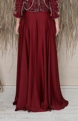 Sarena Skirt - Burgundy – Folkster Bridesmaid Dresses, Wedding Dresses, Bridesmaids, Bridal Stores, Beaded Top, Black Tie, Get The Look, Midi Skirt, Burgundy