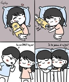 Love Cartoon Couple, Cute Couple Comics, Couples Comics, Cute Couple Art, Anime Love Couple, Cute Comics, Cute Couples, Cute Love Quotes, Cute Love Stories