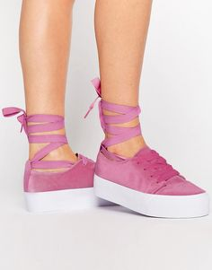 Buy it now. ASOS DENVER Velvet Tie Leg Trainers - Pink. Trainers by ASOS Collection, Velvet upper, Lace-up fastening, Back tab, Detachable leg tie, Chunky sole, Textured tread, Includes an extra pair of laces, Wipe with a damp cloth, 100% Textile Upper. ABOUT ASOS COLLECTION Score a wardrobe win no matter the dress code with our ASOS Collection own-label collection. From polished prom to the after party, our London-based design team scour the globe to nail your new-season fashion goals with…
