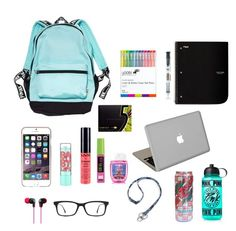 """""""What's in my backpack"""" by kailey101 ❤ liked on Polyvore featuring art"""
