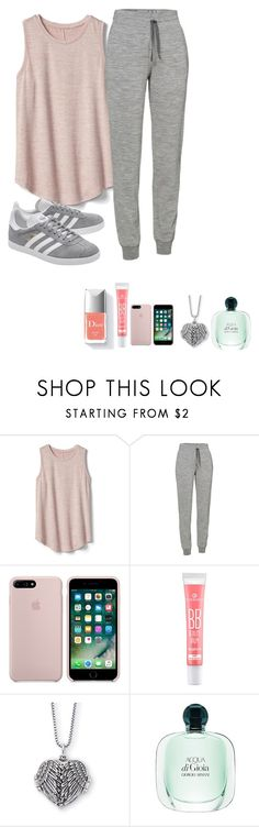"""""""My Normal days Outfits at home #1"""" by meen16 ❤ liked on Polyvore featuring Gap, Icebreaker, adidas Originals and Couture Colour"""