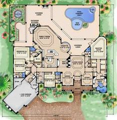 Tuscan House Plans, Dream House Plans, House Floor Plans, Tuscan Design, Tuscan Style, Mediterranean Homes, Tuscan Homes, Mediterranean Architecture, Open Layout