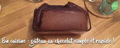 Gâteau extra moelleux au chocolat ! Cake Chocolat, Diners, Desserts, Food, Life, Pastries, No Butter Cookies, Bakery Business, Tent