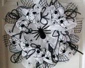 SALE...10 OFF...Fri. Sat. & Sun. ONLY...Itsy Bitsy Spider...Deco Mesh Wreath