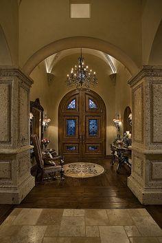 Elegant Entrance to this Italian Estate Designed & Built by Fratantoni Luxury Estates. Like our Facebook Page @ www.Facebook.com/FratantoniLuxuryEstates