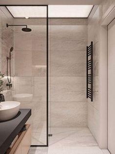 Modern Bathroom Design Ideas With Amazing Storage 21 Small Bathroom Vanities, Bathroom Renos, Bathroom Renovations, Bathroom Ideas, Remodel Bathroom, Shower Remodel, Bathroom Curtains, Shower Curtains, Modern Bathroom Design