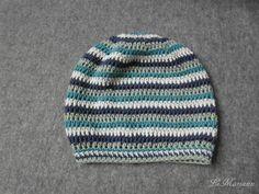 Baby Sommer Beanie Mütze, gehäkelt aus 100% Bio Baumwolle, vegan von LiMariann auf Etsy