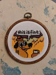 [FO] I've never had to rework this much for such a small project, but it was fin. - [FO] I've never had to rework this much for such a small project, but it was fine. Embroidery Art, Cross Stitch Embroidery, Embroidery Patterns, Snitches Get Stitches, Perler Patterns, Cross Stitch Designs, Funny Cross Stitch Patterns, Small Cross Stitch, Cross Stitching