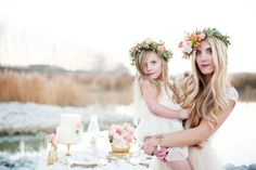Mother and daughter wedding moment | Kristina Curtis Photography | See more on http://burnettsboards.com/2014/01/mother-daughter-inspiration-shoot/